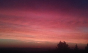A sunrise I enjoyed recently